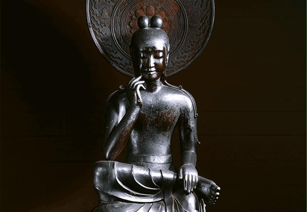中宮寺本尊 国宝菩薩半跏像(寺伝如意輪観音)