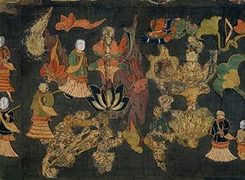 中宮寺本尊 国宝菩薩半跏像(寺伝如意輪観音) 右からのお顔の画像